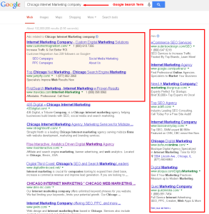 Chicago Internet Marketing company Google Search